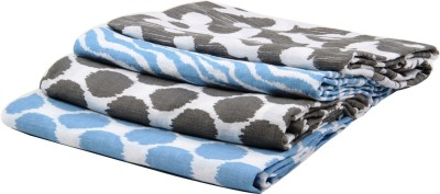 Bacati Polka Single Blanket Grey