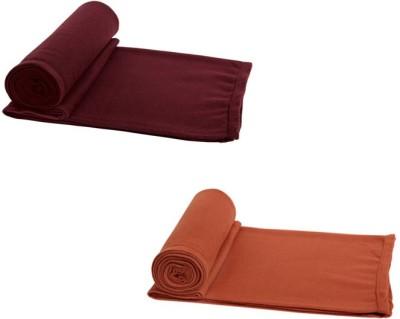Aazeem Plain Single Blanket Multicolor