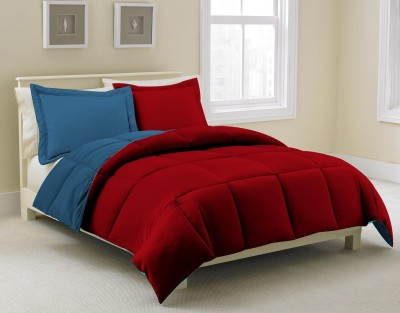 KIAANA USA Plain Single Quilts & Comforters Blue, Red