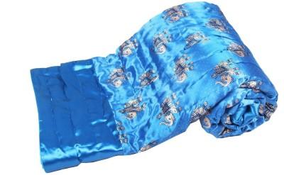 Jaipurtextilehub Animal Double Quilts & Comforters Light Blue