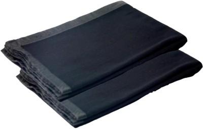 Aazos Plain Single Blanket Blue