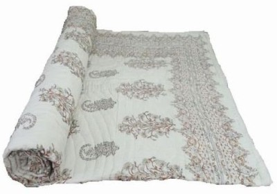 Bagrastore Floral Double Quilts & Comforters White
