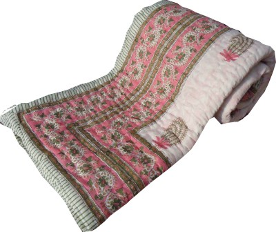 Jaipur Art and Craft Floral Double Quilts & Comforters Mutlicolor