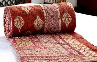 Bagrastore Floral King Quilts & Comforters Dark Red
