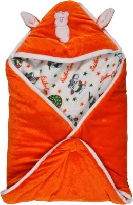 New Born Baby Cartoon Crib Hooded Baby Blanket Red, Orange