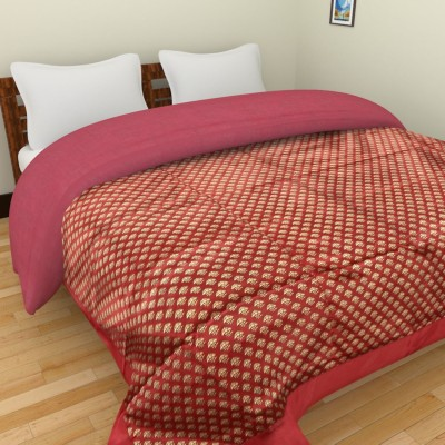Shra Floral Double Quilts & Comforters Red