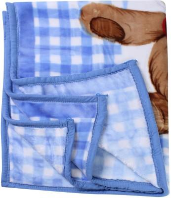 MeeMee Checkered Single Blanket Blue