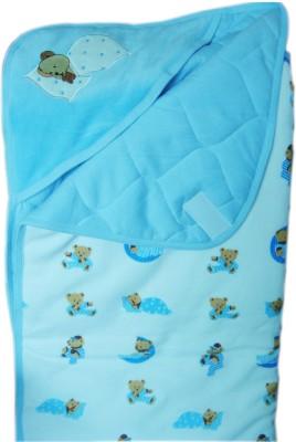 Tiny Care Plain Single Blanket Blue