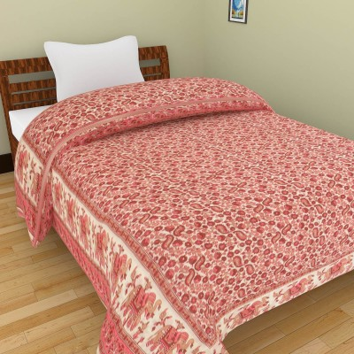Shra Floral Single Quilts & Comforters Pink