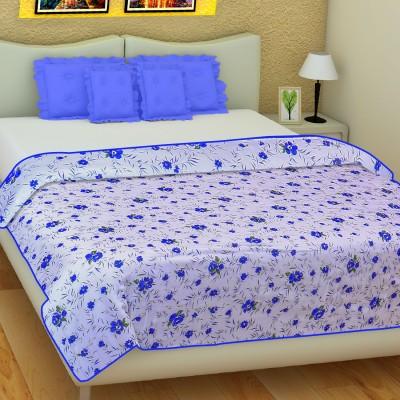 SLEEP N DREAM Floral Double Dohar Blue