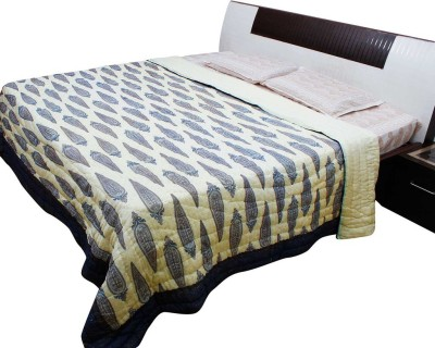 Pioneer Pragati Floral Double Quilts & Comforters Blue