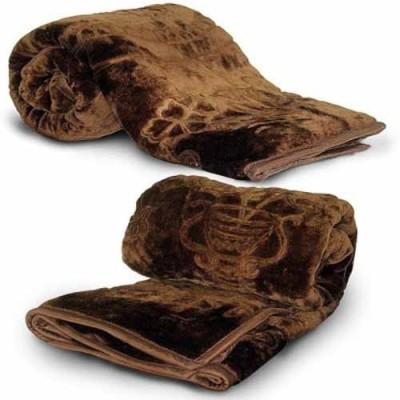 Guru Kirpa Textiles Floral Single Blanket Brown