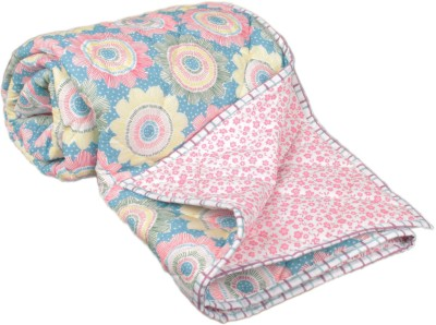 My Little Lambs Floral Single Quilts & Comforters Multicolor