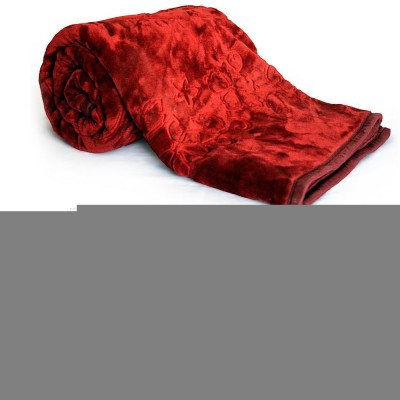 Home India Abstract Double Blanket Red