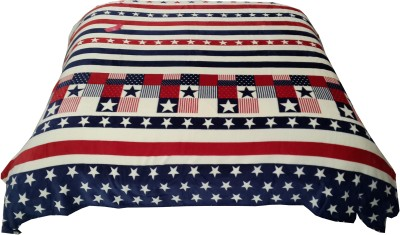Valtellina Striped Double Blanket Beige