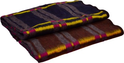 Magical Checkered Single Blanket Brown, Blue