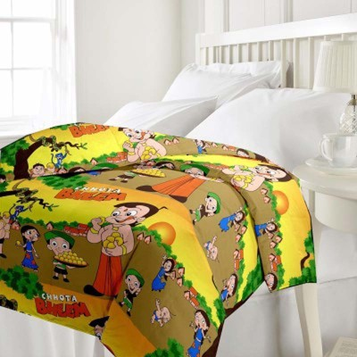 GLOW Cartoon Single Quilts & Comforters Yellow