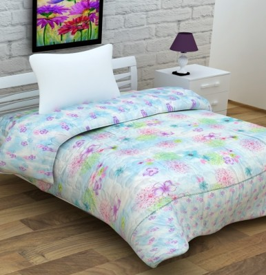 Enfin Homes Floral Single Quilts & Comforters Blue