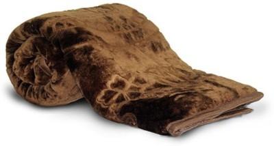 Monil Floral Single Blanket Brown