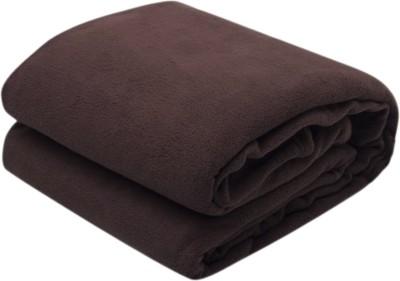 Excel Bazaar Plain Double Blanket Brown