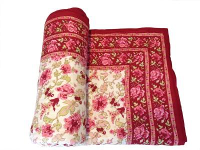 Fab Rajasthan Unique Arts Floral Single Quilts & Comforters Multicolor