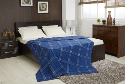 Raymond Home Checkered Double Quilts & Comforters Blue