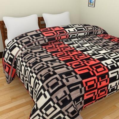 Spangle Geometric Double Blanket Multicolour