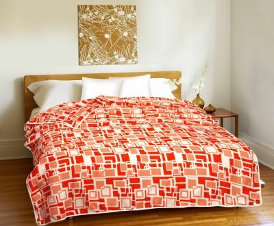 CURL UP Geometric Single Dohar Orange, White