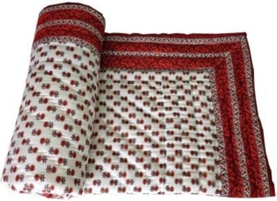Bigonlineshop Floral Single Quilts & Comforters White