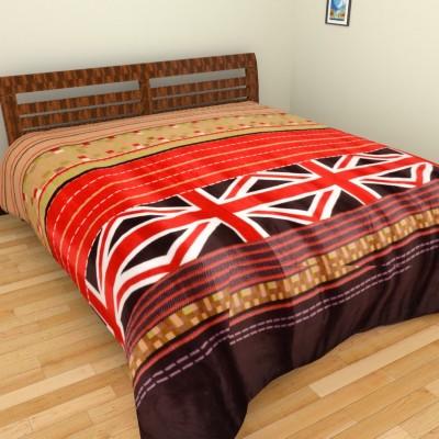 Brida Geometric Double Blanket Brown, Maroon