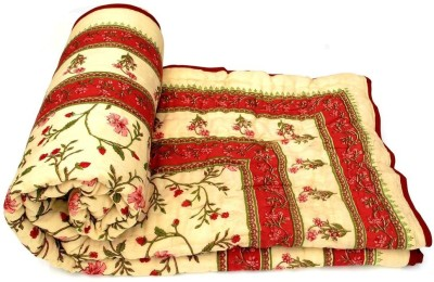 Sudharaj Floral Double Blanket Red