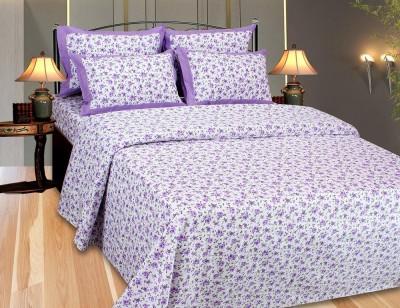 The Intellect Bazaar Floral Single Top Sheet Purple