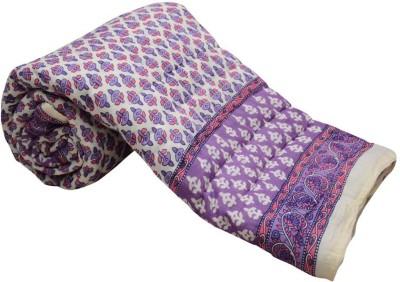 Monil Floral Single Quilts & Comforters Purple