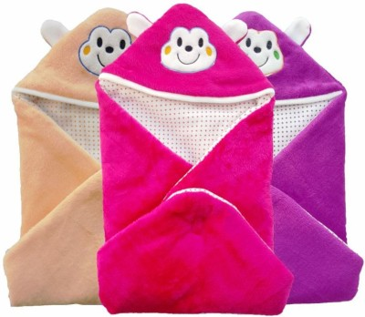 Brandonn Abstract Single Hooded Baby Blanket Multicolor