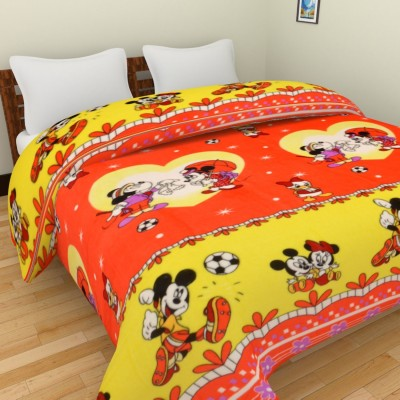 Spangle Cartoon, Printed Double Blanket, Top Sheet Multicolor