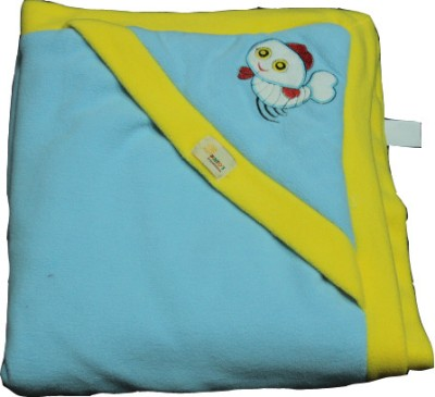Just Pinto's Checkered Single Blanket Yellow, Blue