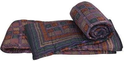 Me Home Floral Double Quilts & Comforters Royal Blue