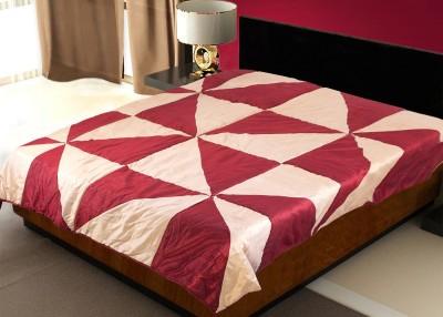 Zikrak Exim Geometric Single Blanket Maroon, Beige