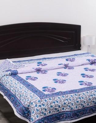 Kalasansar Floral Double Quilts & Comforters Purple
