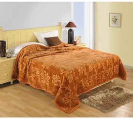 Kamyaart Floral Double Blanket Brown