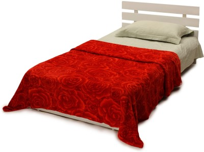 Histeria Floral Single Blanket Red