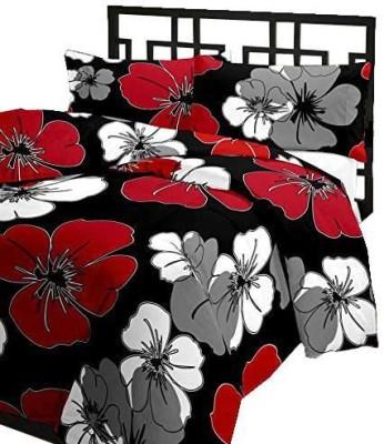 Renown Floral Single Blanket Black