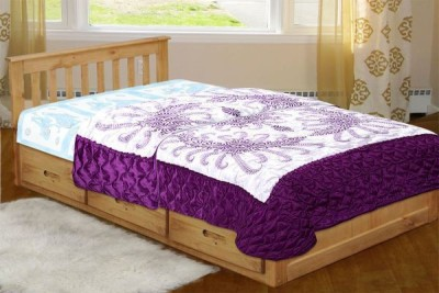 Chelsi Printed Single Quilts & Comforters Purple