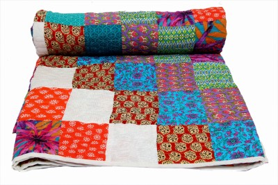 Krishnam Creation Checkered Double Quilts & Comforters Multicolor