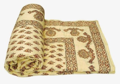 Buy Clues Paisley Single Quilts & Comforters Yellow