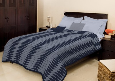 Bombay Dyeing Abstract Double Blanket Blue