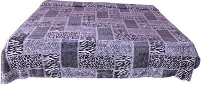 Colaba Animal King Blanket Grey, Black