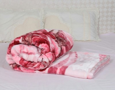 Ndecor Floral Double Blanket Pink
