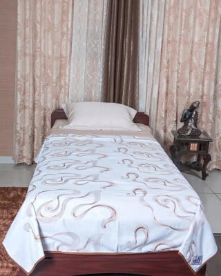 Cozy Sleeeeeep Embroidered Single Dohar White Base