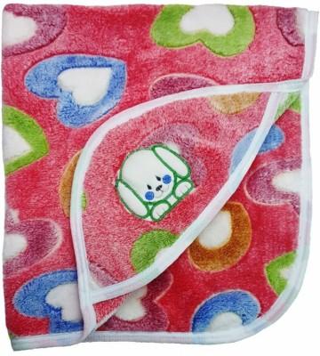 Brandonn Polka Single Hooded Baby Blanket Pink